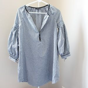 Oversized Topshop B+W GIngham Top Size 4